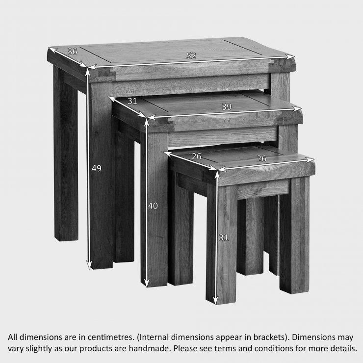 Original Nest of 3 Tables in Rustic Oak Oak Furniture Land : rustic oak nest of 3 tables 56ddb7472eeada0e9f1e8c4c2599ea888d3b8c2db6aad from www.oakfurnitureland.co.uk size 740 x 740 jpeg 74kB