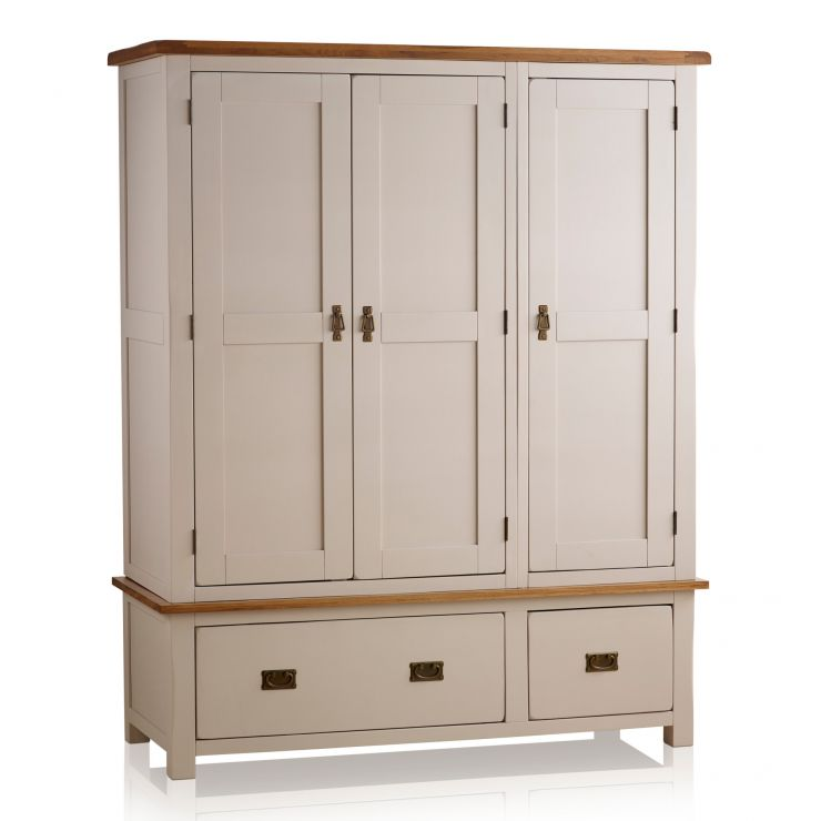 kemble triple wardrobe in painted oak oak furniture land. Black Bedroom Furniture Sets. Home Design Ideas