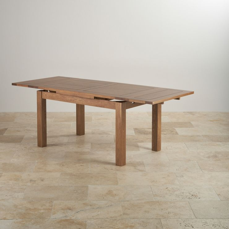 """4ft 7"""" Extending Table With 6 Brown"""