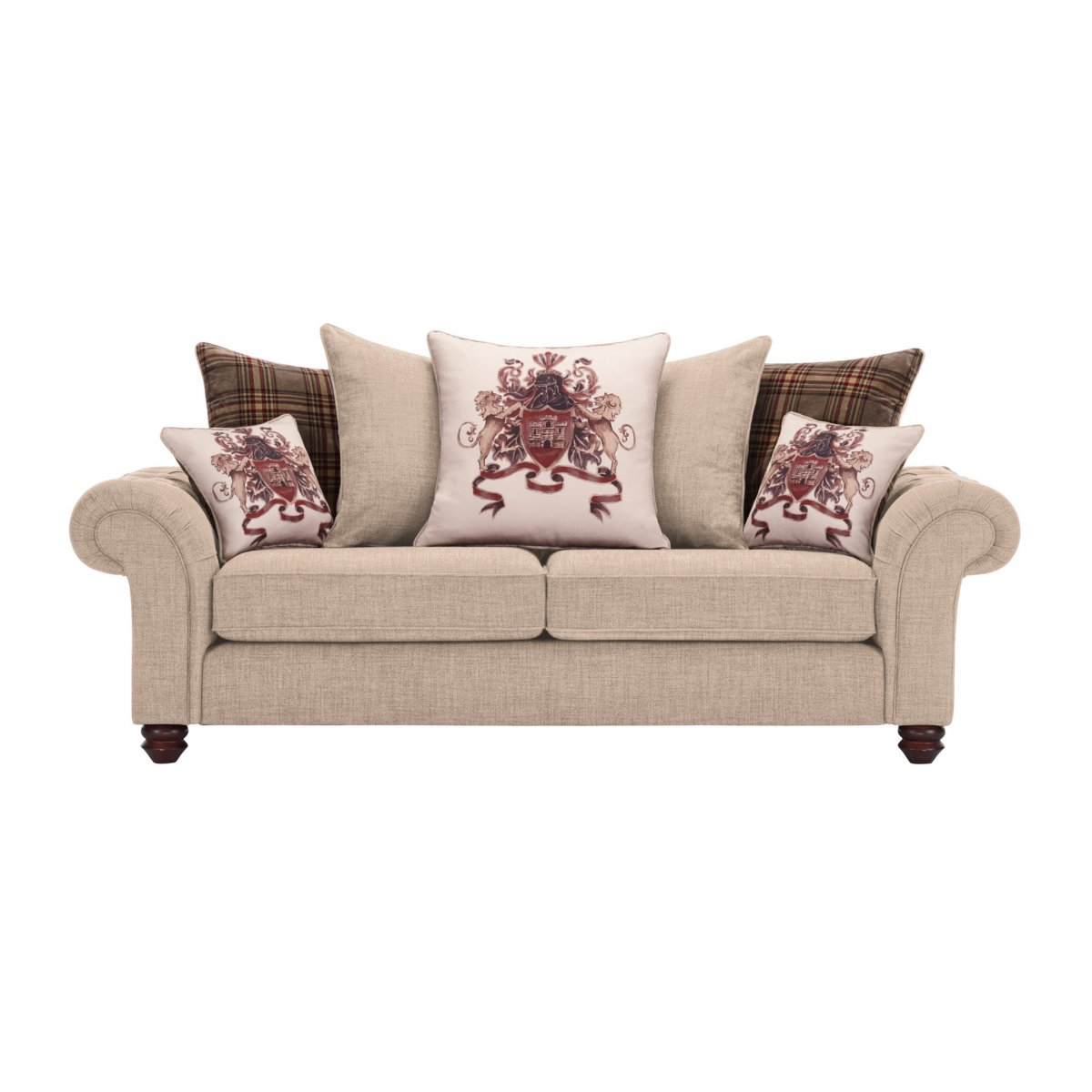 mirrors for bathrooms vanities sandringham 3 seater pillow back sofa in beige scatters 19536