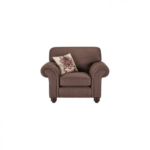 Sandringham Armchair in Coffee with Dark Brown Scatter