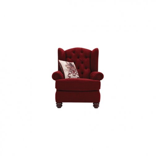 Sandringham Wing Chair in Red with Red Scatters