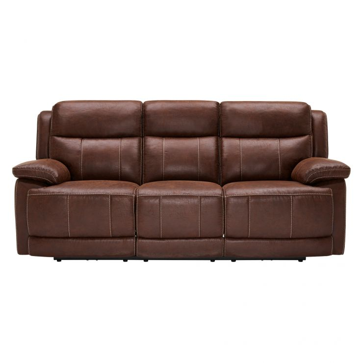 Santiago 3 Seater Electric Recliner With Usb Ports Oak Furniture Land