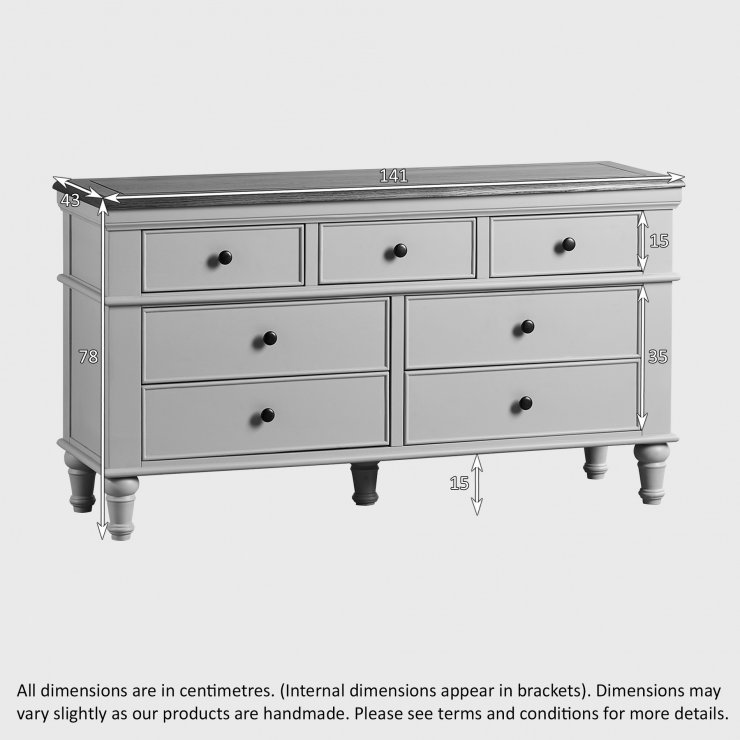 shay wide chest of drawers in painted oak oak furniture land