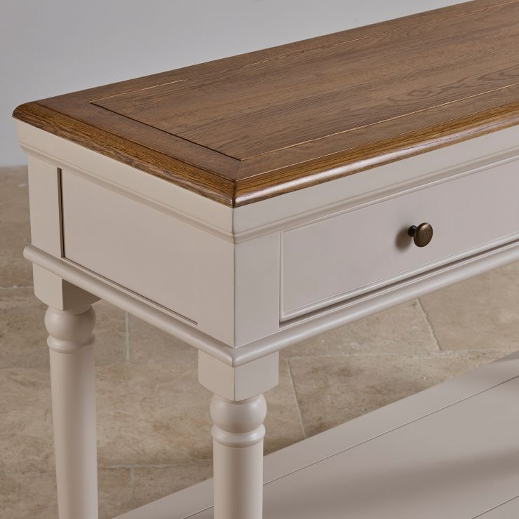 Shay Rustic Oak And Painted Console Table   Image 7 Express Delivery. Shay