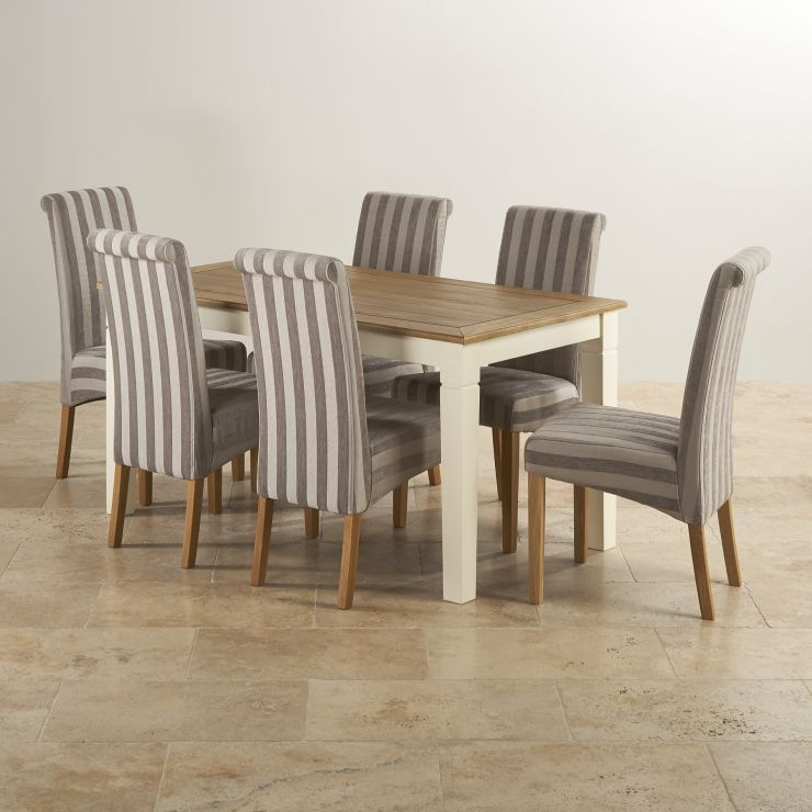 Shutter Brushed Oak And Painted 5ft X 2ft 6 Quot Dining Table