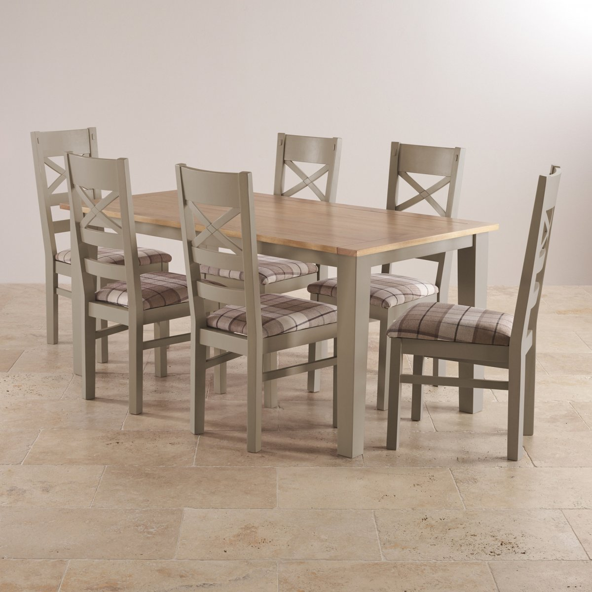 dining room furniture uk stores. custom delivery autumn monday st ives natural oak and light grey painted 5ft 6\ dining room furniture uk stores
