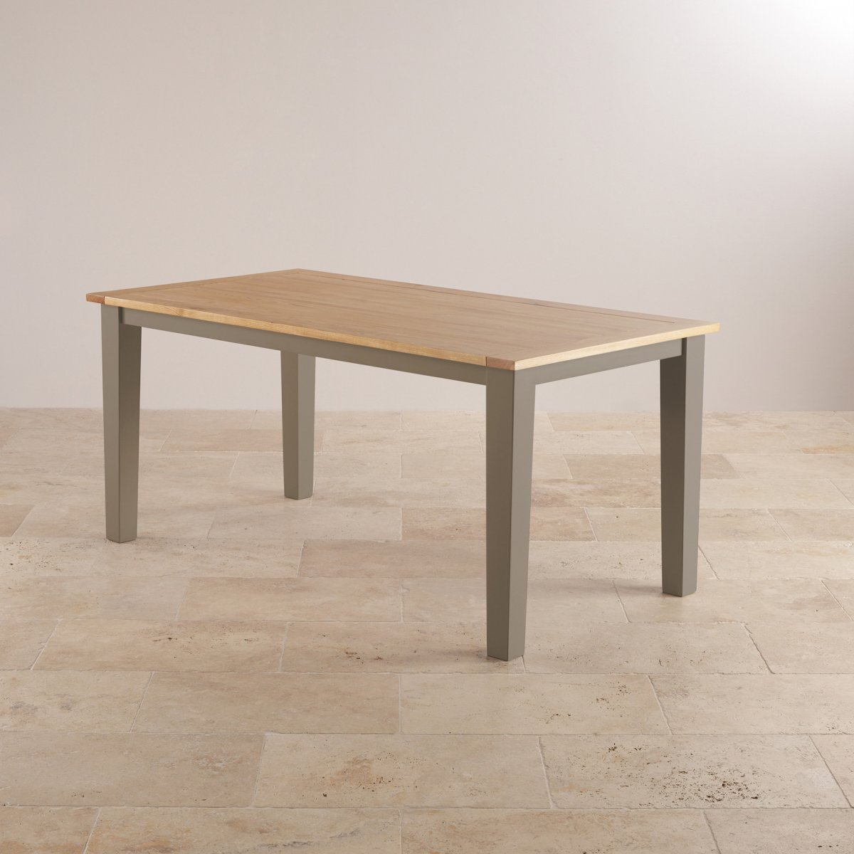 Light Oak Dining Room Table And Chairs: St Ives Dining Set In Grey Painted Acacia: Table + 6 Chairs