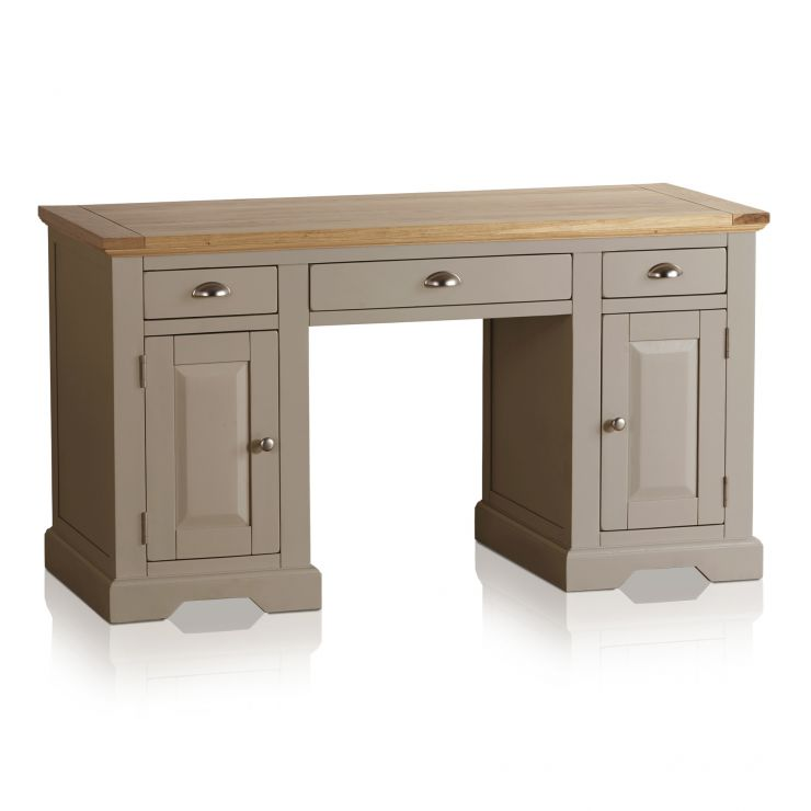 St Ives Computer Desk In Painted Acacia Oak Furniture Land
