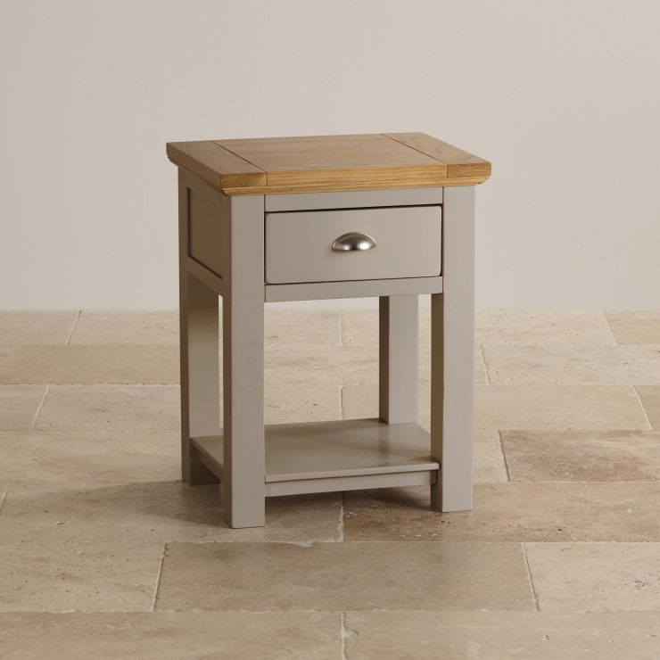 St ives lamp table in light grey painted acacia with oak top sorry your browser does not support this video mozeypictures Choice Image