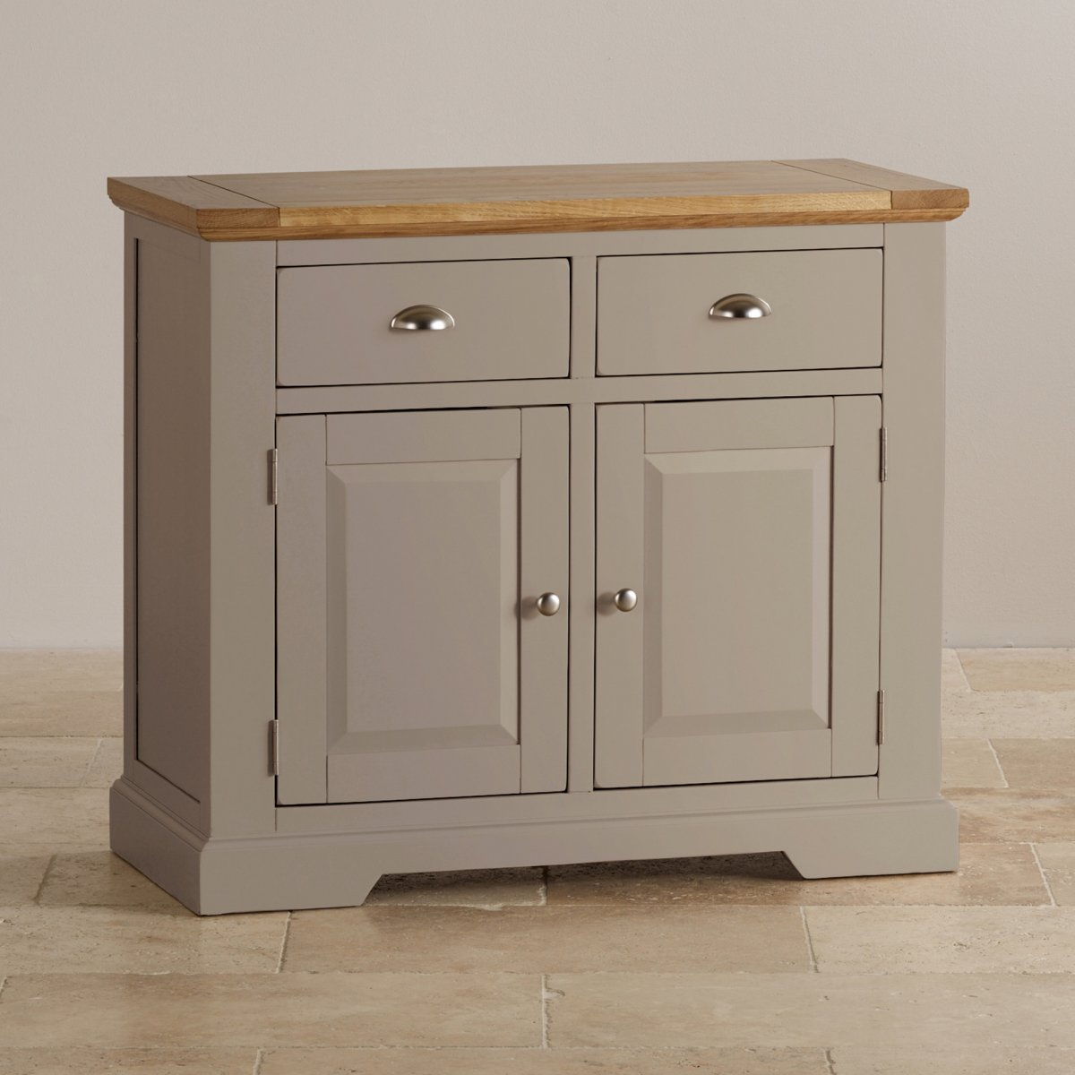 Country Dining Room Pictures Natural Oak And Light Grey Painted Small Sideboard