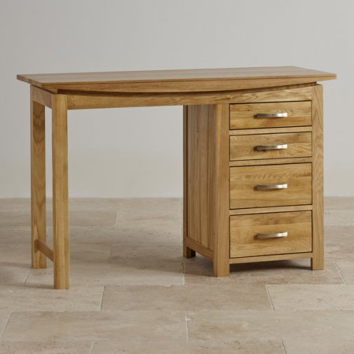 Tokyo Natural Solid Oak 4 Drawer Dressing Table