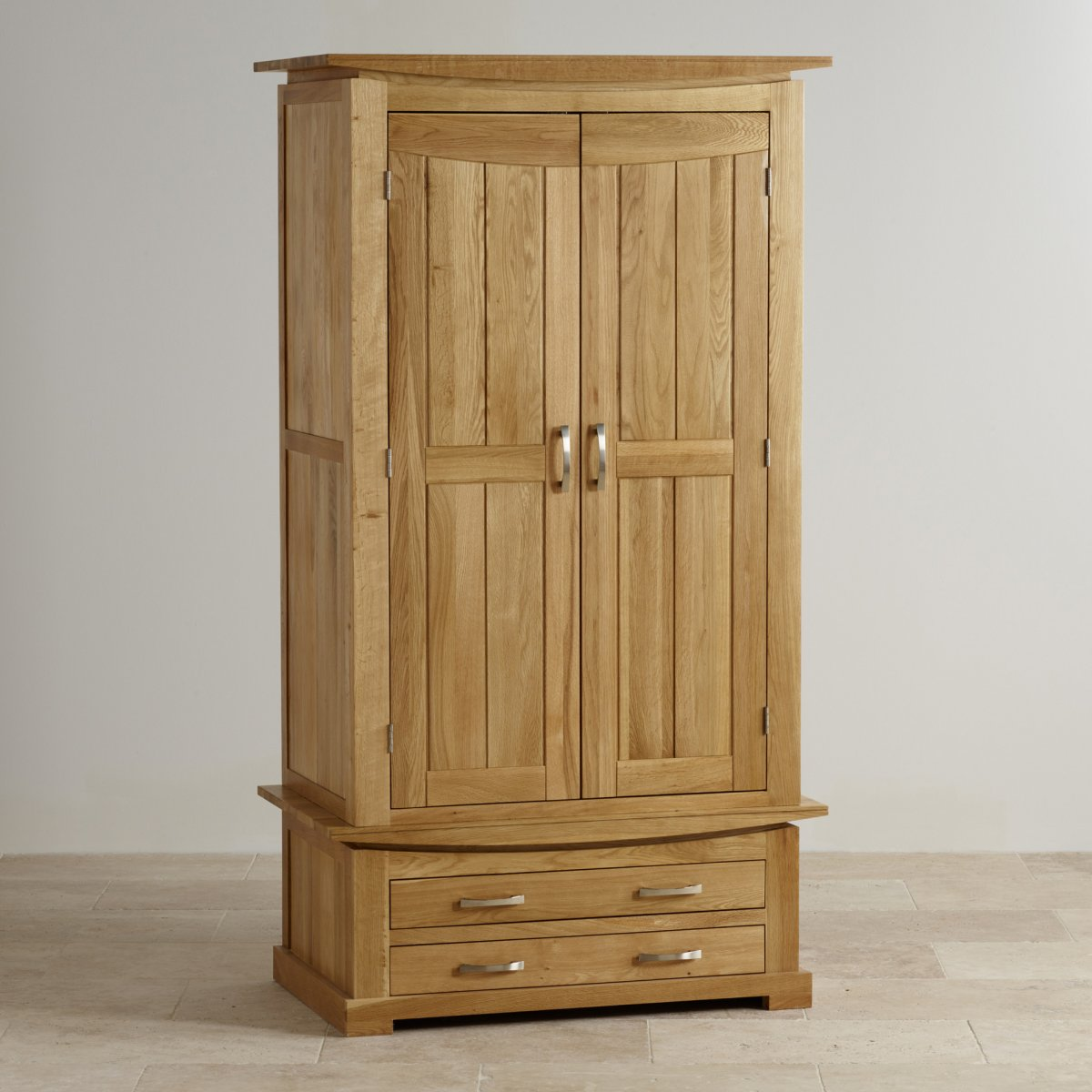 tokyo double wardrobe in natural solid oak oak furniture. Black Bedroom Furniture Sets. Home Design Ideas