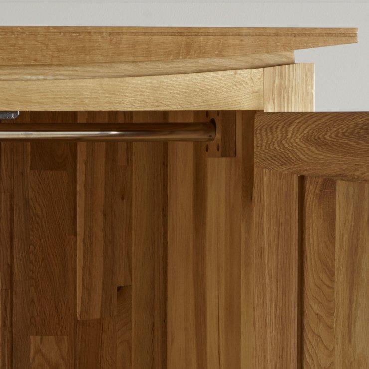 Tokyo Double Wardrobe In Natural Solid Oak Oak Furniture