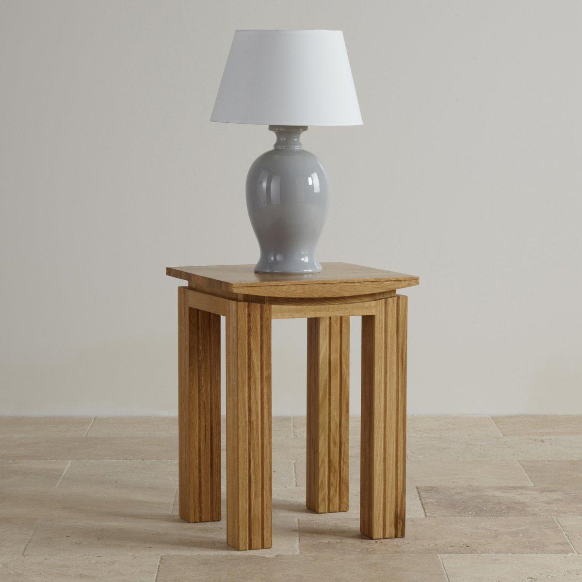 Tokyo Natural Solid Oak Lamp Table | Living Room Furniture