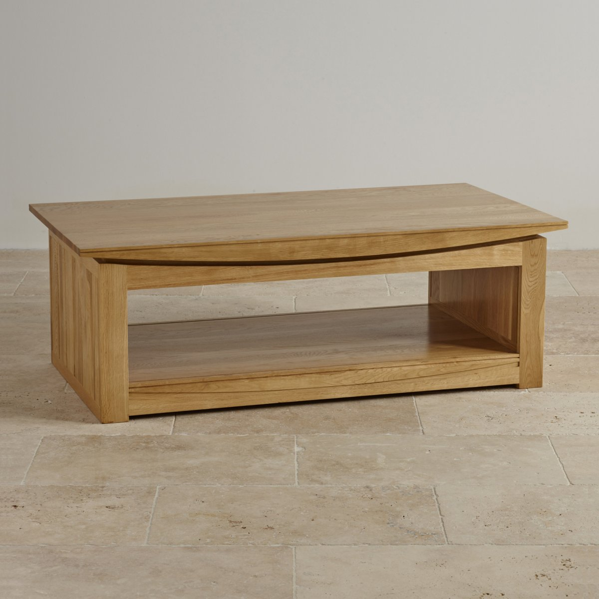 Tokyo Natural Solid Oak Large Coffee Table By Oak Furniture Land