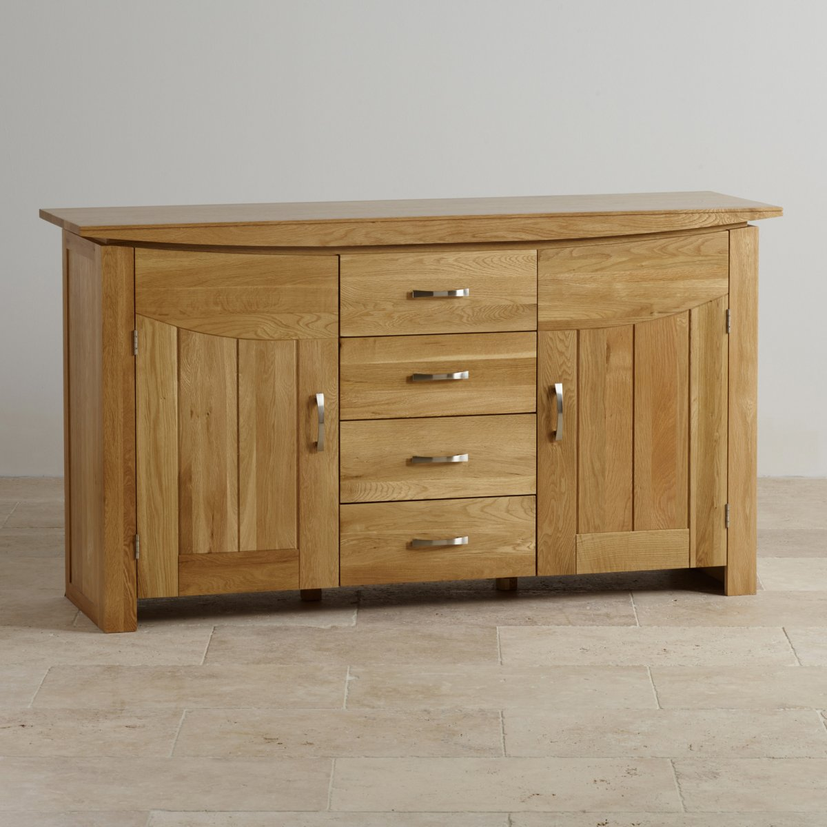 Tokyo Large Sideboard In Natural Solid Oak Oak Furniture Land