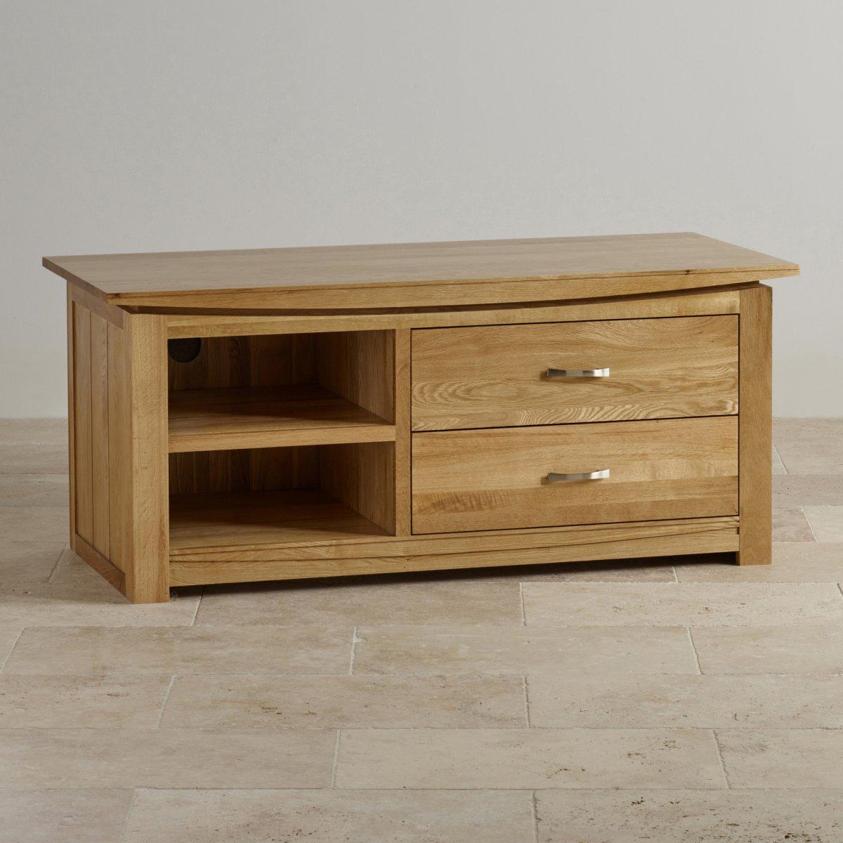 tokyo natural solid oak widescreen tv dvd cabinet. Black Bedroom Furniture Sets. Home Design Ideas