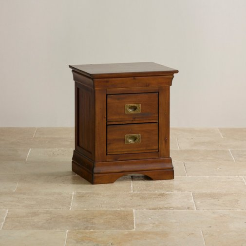 Victoria Solid Hardwood 2 Drawer Bedside Table