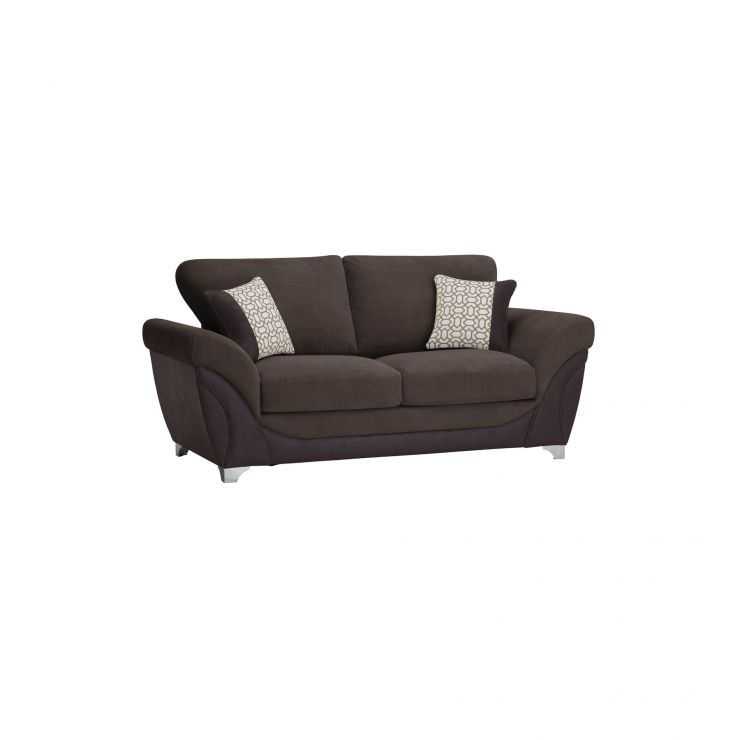Vienna 2 Seater Sofa Bed with Standard Mattress in Aero Charcoal Fabric  with Silver Scatters