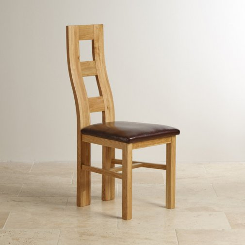 Oak Dinning Chairs: Oak & Leather Dining Chairs