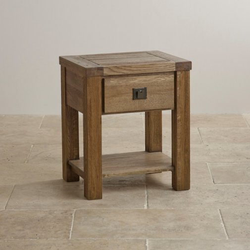 Windsor Brushed Solid Oak Lamp Table