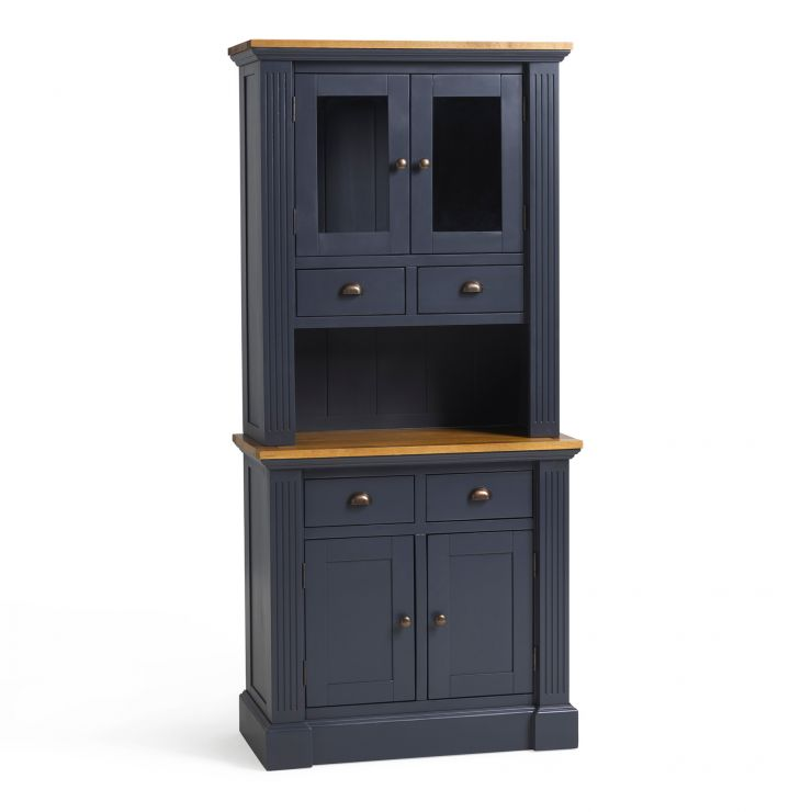Highgate Rustic Oak and Blue Painted Hardwood Small Dresser