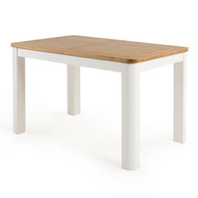 "Hove Natural Oak and Painted 4ft 3"" Extending Dining Table"