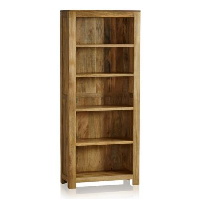 Mantis Light Natural Solid Mango Tall Bookcase