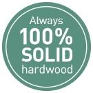 100% Solid Hardwood