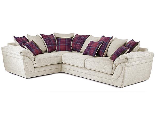 Anya Left Hand Corner Sofa in Stewart Fabric  Cream