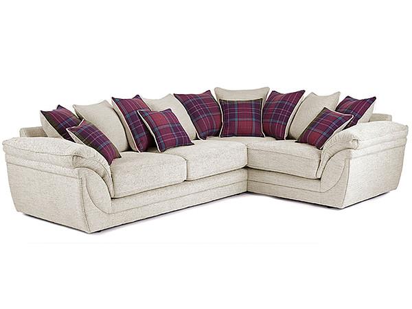 Anya Right Hand Corner Sofa in Stewart Fabric  Cream
