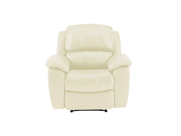 Avon Armchair with Manual Recliner  Cream Leather