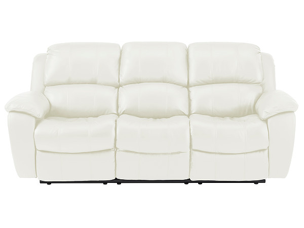 Avon Large Sofa with Manual Recliners  Off White Leather