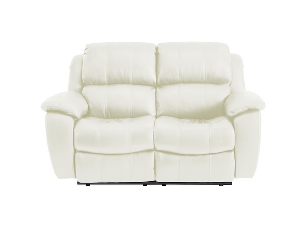 Avon Medium Sofa with Manual Recliners  Off White Leather
