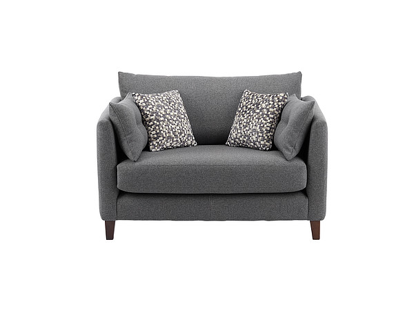 Bari Cuddle Chair in Graceland Pewter
