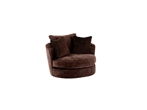 Covent Garden Swivel Cuddler Chair Sherlock Chocolate