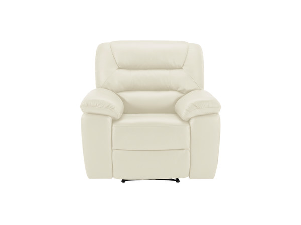 Devon Armchair with Manual Recliner  Cream Leather