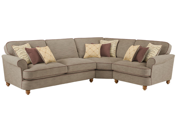 Dina Large Corner Sofa Right Hand Facing  Canterbury Coffee with Brown Scatters