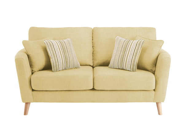 Dover Medium Sofa in Linso Lime with Salsa Summer Scatters