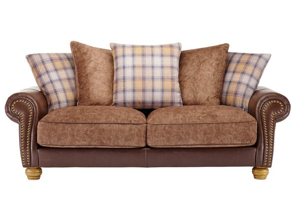 Elizabeth Large Sofa  Antique Chestnut Leather