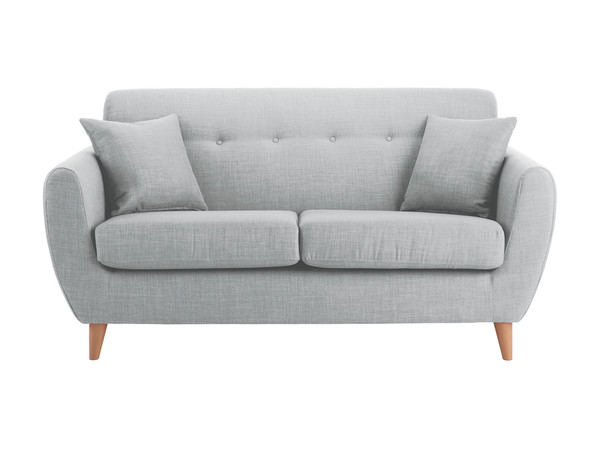 Empire Medium Sofa in Como Silver