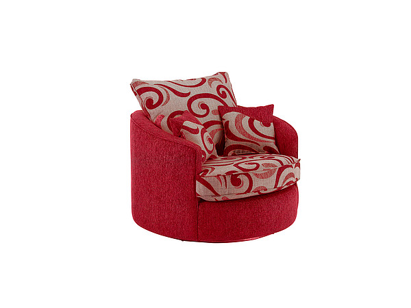 Gina Swivel Love Chair in Red
