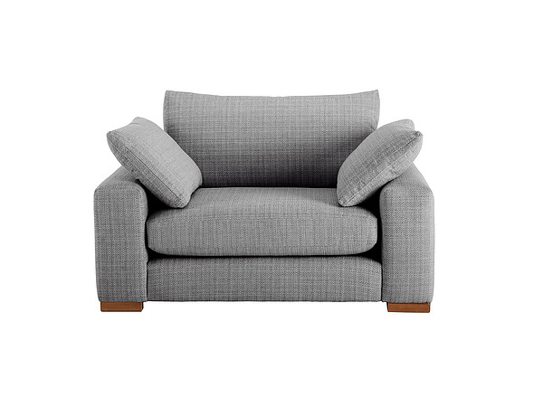 Jackson Cuddle Chair in Sweet Charcoal