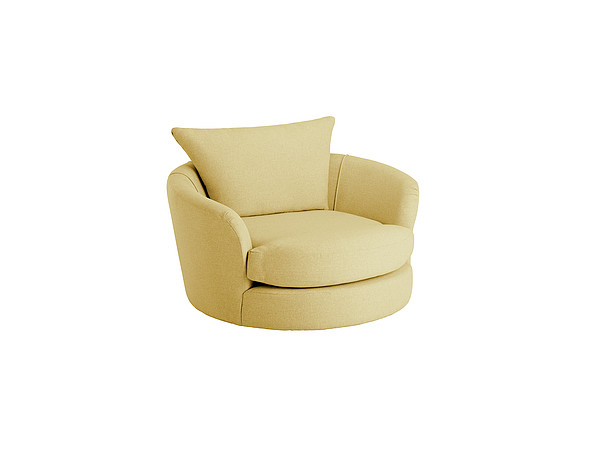 Metro Swivel Cuddle Chair in Graceland Apple