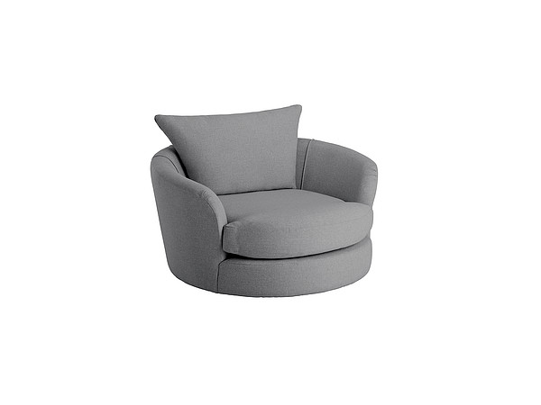 Metro Swivel Cuddle Chair in Sweet Charcoal