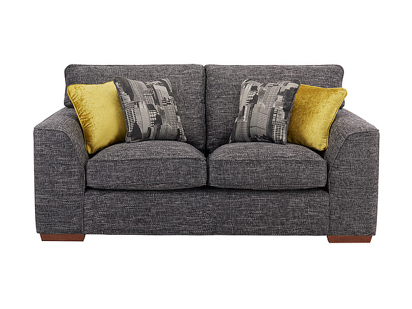 Sofas Wembley Medium Sofa in Gino Charcoal with Charcoal and Lime Scatters