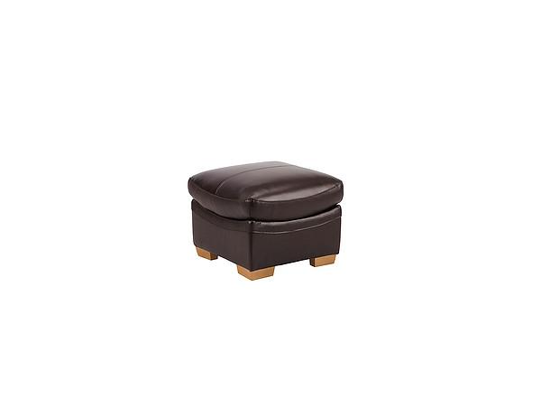 Furniture Weston Footstool - Brown Leather